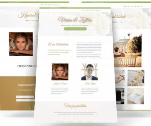 esküvős weboldal terv