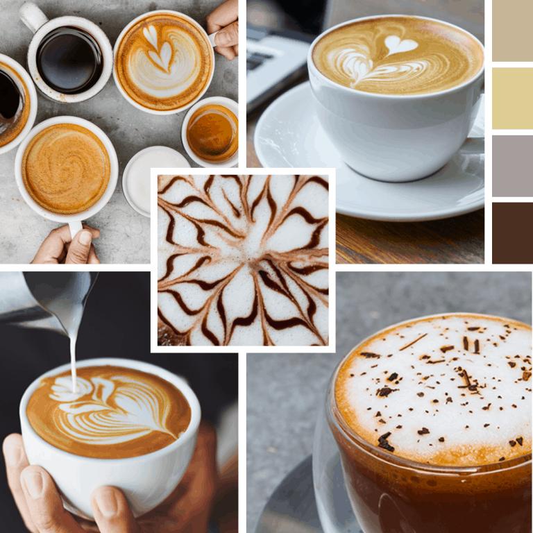 kávézós moodboard