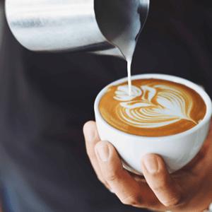 Kávéházi brandboard kép kettő