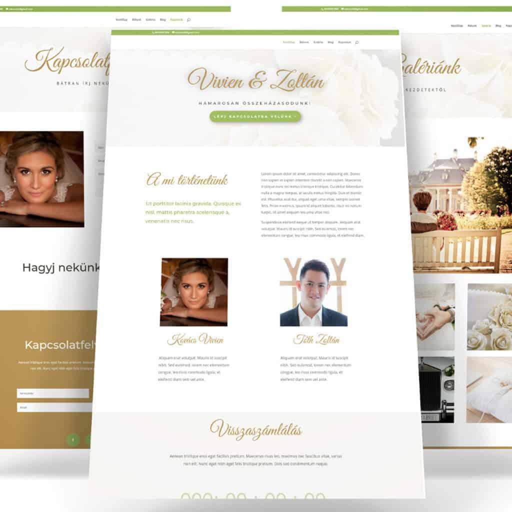 esküvős weboldal