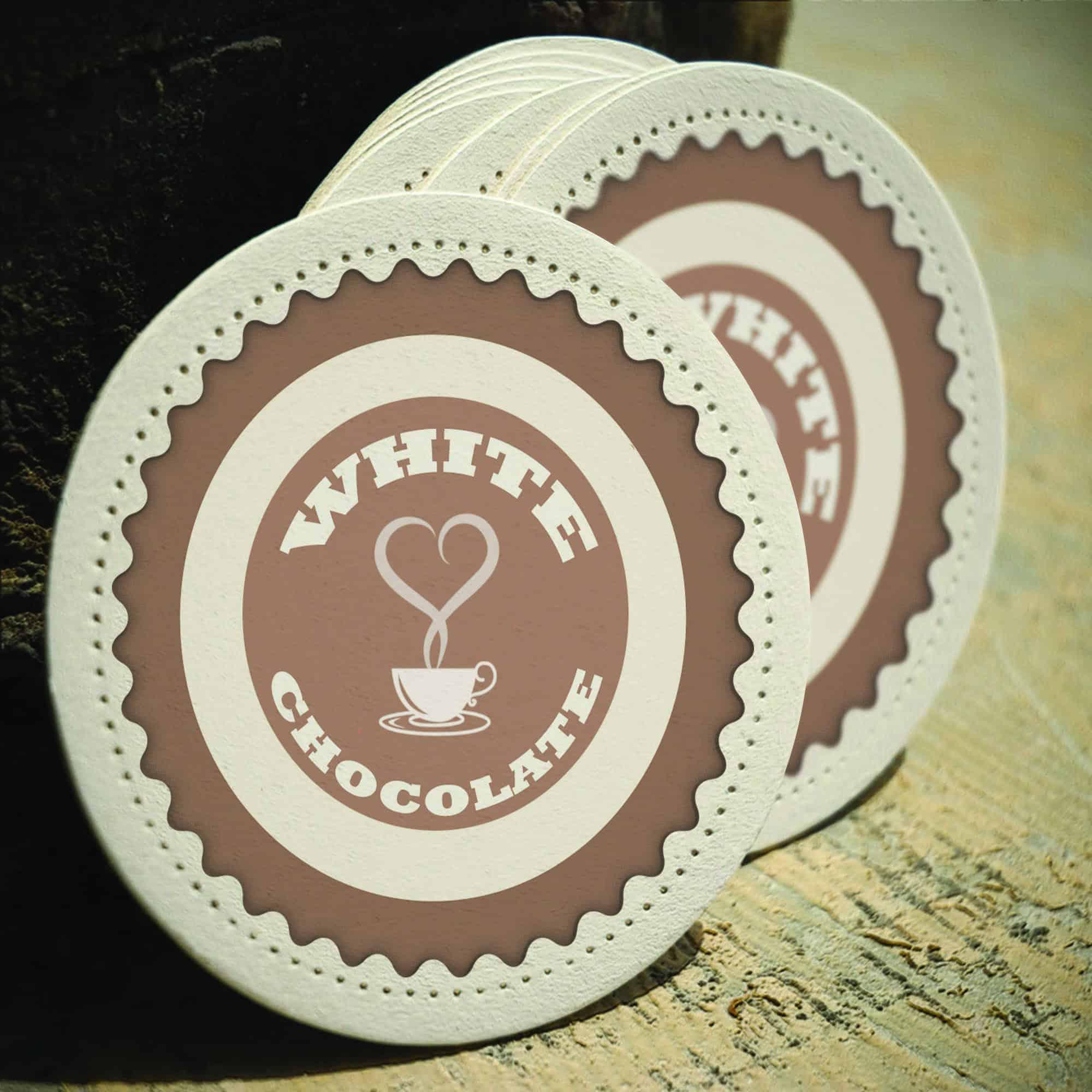 Romantikus kávéháznak készített logó